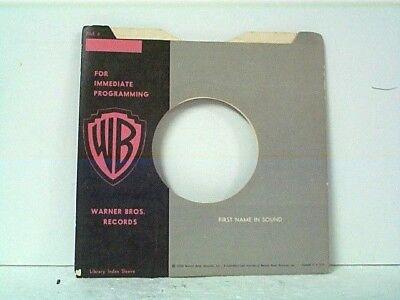 Reasonable 1-warner Bros Promo Company 45's Sleeves Lot #1-aaaa Music