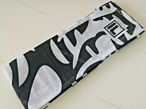 NEW-Fila-Vintage-Retro-Rare-Bandana-Black-and-White-pattern-100-Cotton