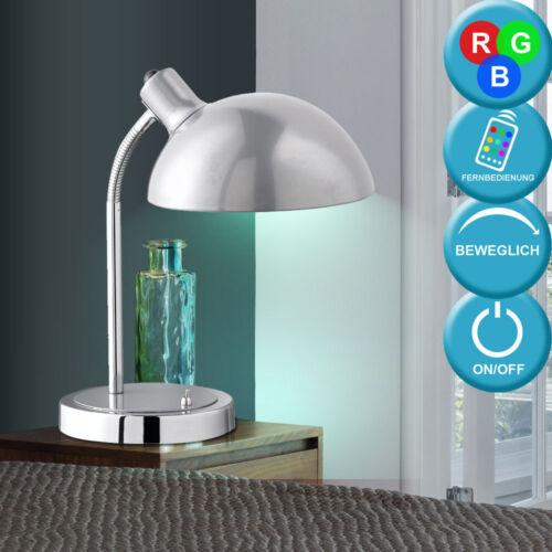 LED Tisch Lampe RGB Fernbedienung Schlaf Zimmer Flexo Nacht Licht Dimmer Leuchte