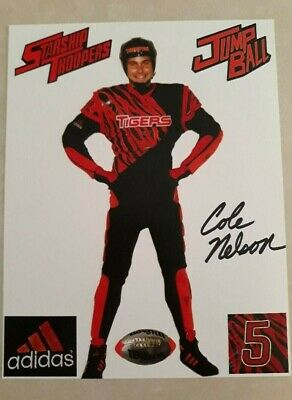 COLE NELSON-STARSHIP TROOPERS-AUTOGRAPHED-TIGERS JUMP BALL PLAYER #5 SIGNED PIC
