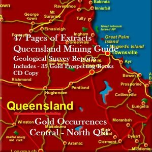 GOLD-MINING-amp-PROSPECTING-REPORTS-CENTRAL-NORTH-QLD-35-Bonus-Books-amp-Maps
