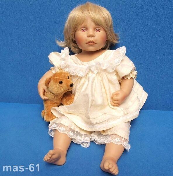 ZAPF artisti BAMBOLA rosadodolie bionda 56 cm bambola anni 1998 Bettine Klemm
