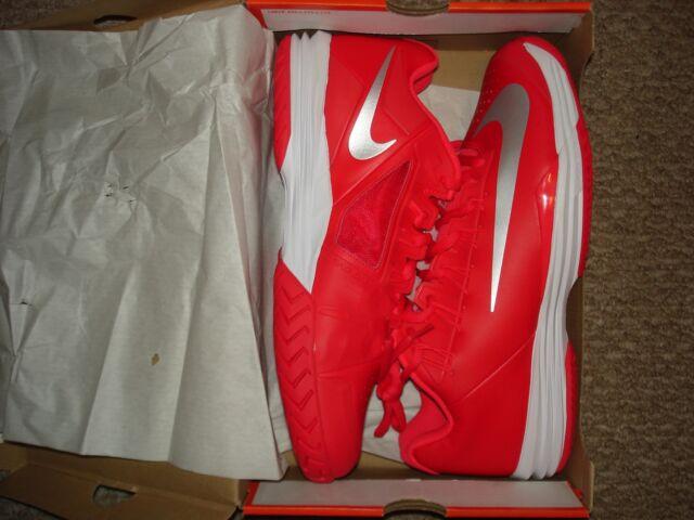 new arrival f8216 e658e NIB Nike Nadal Lunar Ballistec 1.5 Team Red Tennis Shoes 705285-602 Sz 12.5