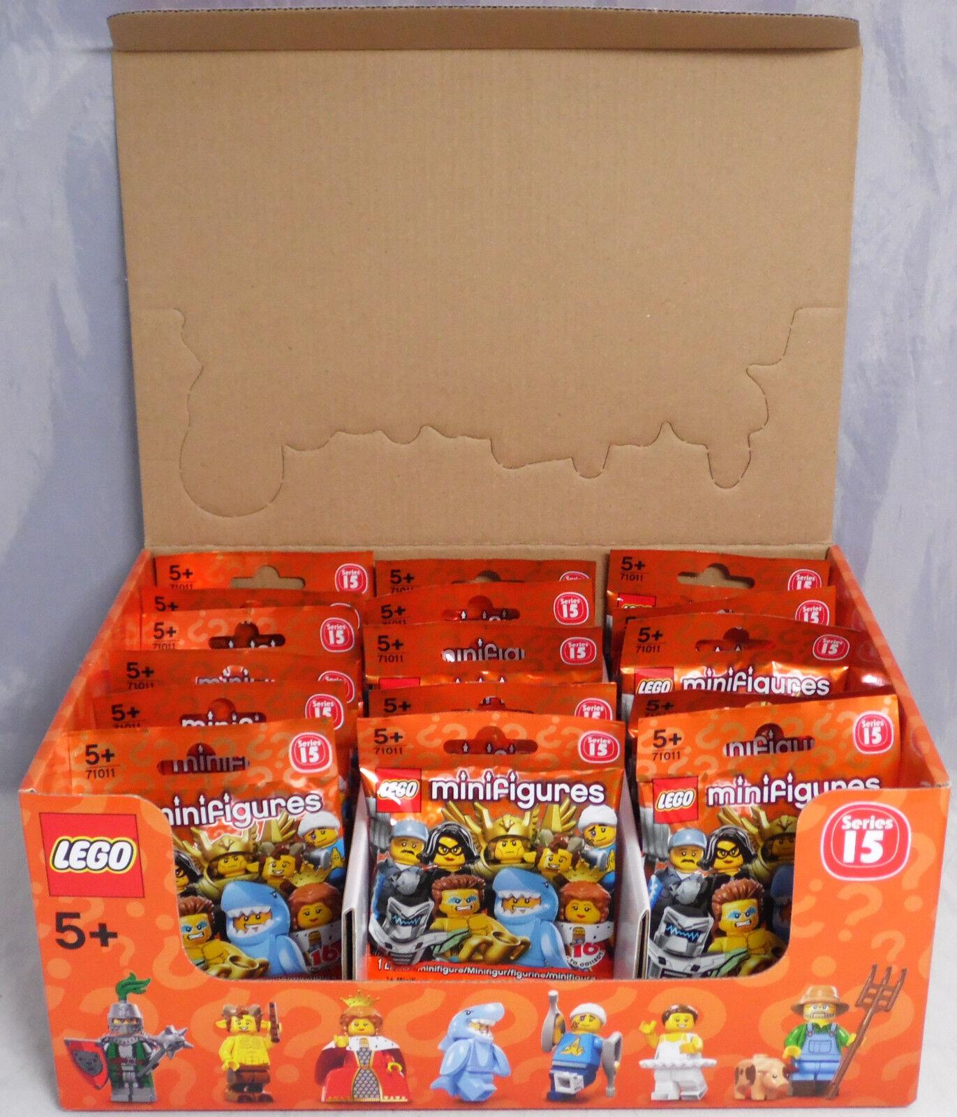 LEGO 71011 Minifiguren Serie 15, 1 kompletter Satz = 16 Figuren im Display NEU