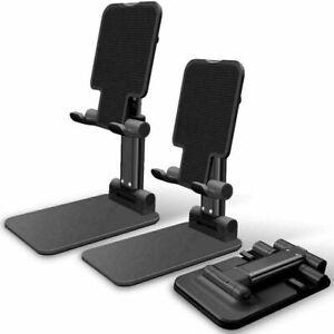 Cell Phone Stand Tablet Mount Fordable Desktop Holder Cradle Dock Mobile iPhone