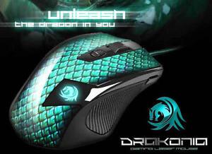 Sharkoon-Drakonia-Gaming-Maus-5000-DPI-Gewichte-Lasermaus-USB-3-81-m-s-NEU