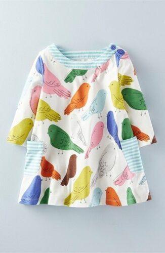 Mini Boden girls cotton jersey hotchpotch print tunic top dress NEW ages 1-12