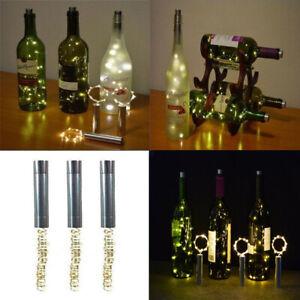 10 15 20 Led String Lights Cork Shaped Night Light For Wine Bottle Starry Xmas K Ebay