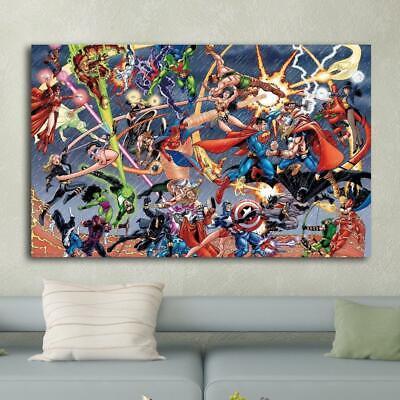 marvel comics vs dc comics hd print on canvas home decor