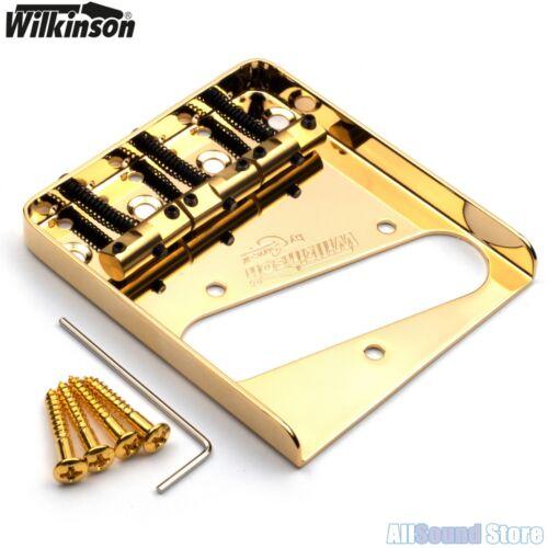 Wilkinson WTB Vintage Telecaster Guitar Bridge w// Compensated Brass Saddles Tele