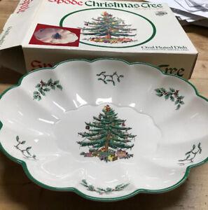 "SPODE CHRISTMAS TREE FLUTED SCALLOPED OVAL DISH TRAY BOWL ENGLAND NIB 10.5""   eBay"
