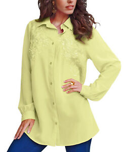PLUS-SIZE-BY-DENIM-24-7-YELLOW-LONGLINE-SHIRT-BLOUSE-TUNIC-SIZES-16-36-FREE-P-amp-P