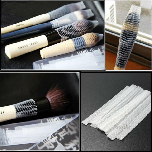 10/50/100/500 Pcs White Make Up Cosmetic Brushes Guards Mesh Protectors Cover