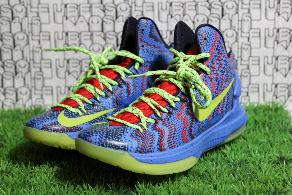 Nike KD V Kevin Durant 554988 401 Xmas Blue/Green What the aunt pearl QS MEN 8.5