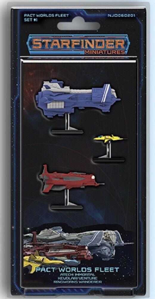 Starfinder Miniatures  Pact Worlds Worlds Worlds Fleet 219394