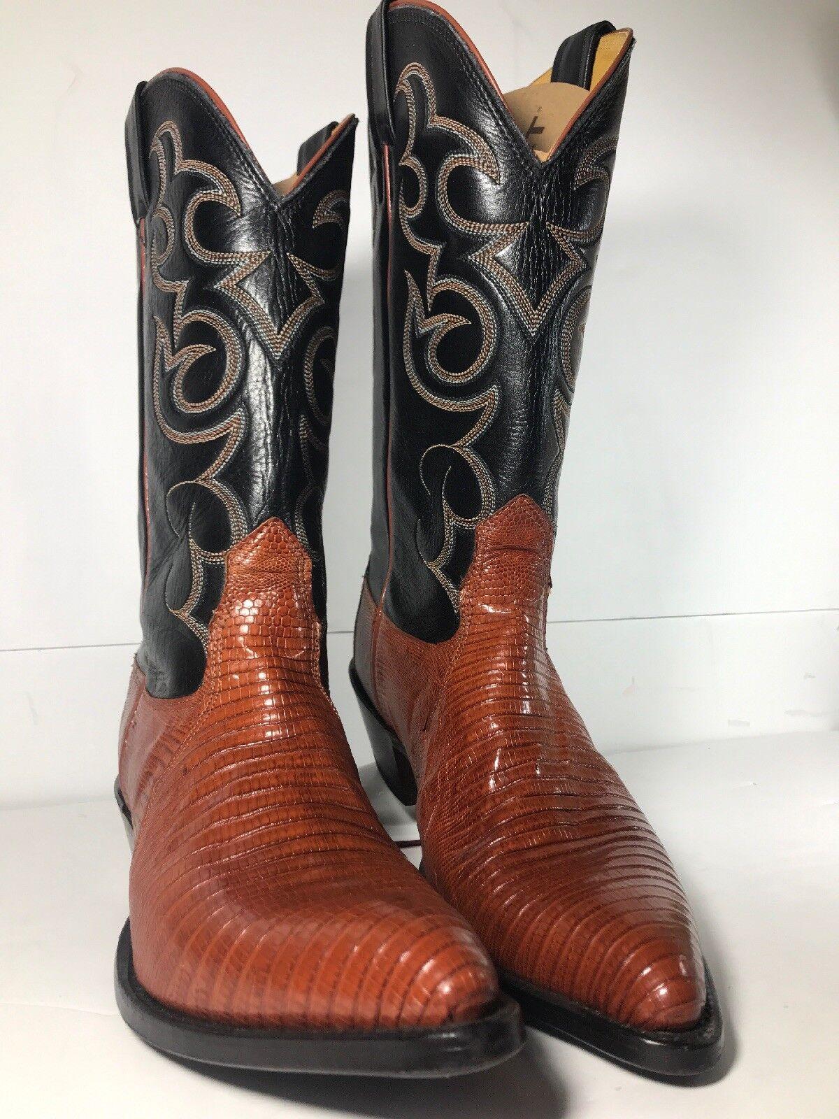 gli ultimi modelli Nocona donna Western stivali 1524-27-305 Peanut Peanut Peanut Brittle Lizard Leather Dimensione 8.5B  presa di fabbrica
