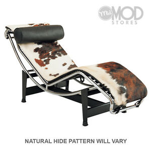 Pleasing Details About Cowhide Chaise Lounge Mid Century Modern Lounger Chair Pony Hide Chaise Evergreenethics Interior Chair Design Evergreenethicsorg