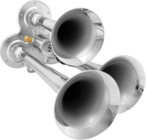 Train Horn Kit for Truck//Car//Pickup Loud System //2.5G Air Tank//200psi//3 Trumpets