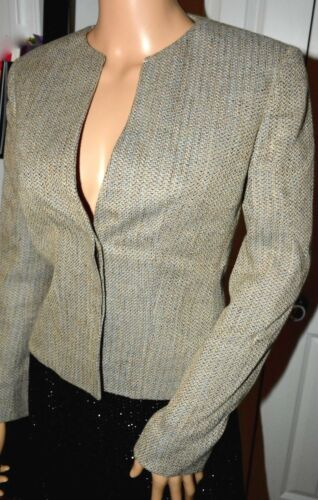 Armani Blazer Collarless Giorgio Blå To 2 Tråd Knapper Fitted Collections 1q8d5w8