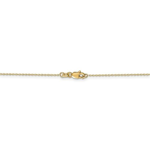 14k Yellow Gold Diamond-Cut Cable Chain Necklace