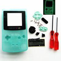 Gbc Nintendo Game Boy Color Housing Shell Screen Glow In The Dark Glass Usa