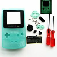 Gbc Nintendo Game Boy Color Housing Shell Screen Glow In The Dark Glass Usa