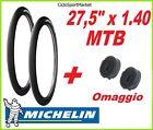 2 x Copertoni 27,5 x 1.40 SLICK MICHELIN bici Mountain Bike + 2 x CAMERA D'ARIA