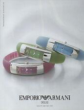 Publicité Advertising 2002  Montre  EMPORIO ARMANI  Orologi