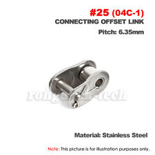 """#25 Roller Chain Connecting Link Half Link 04C For #25 1//4/"""" Roller Chain x10Pcs"""