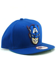 af3bc032c89 New Era Captain America 9fifty Snapback Hat Adjustable Marvel Comics ...