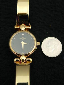 Vintage-French-Michel-Herbelin-Ladies-Watch-Faux-Diamond-Gold-Bracelet