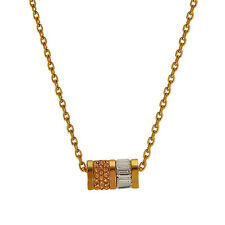 MICHAEL KORS GOLD+ROSE GOLD TONE PAVE CRYSTAL BAGUETTE BARREL NECKLACE-MKJ1902
