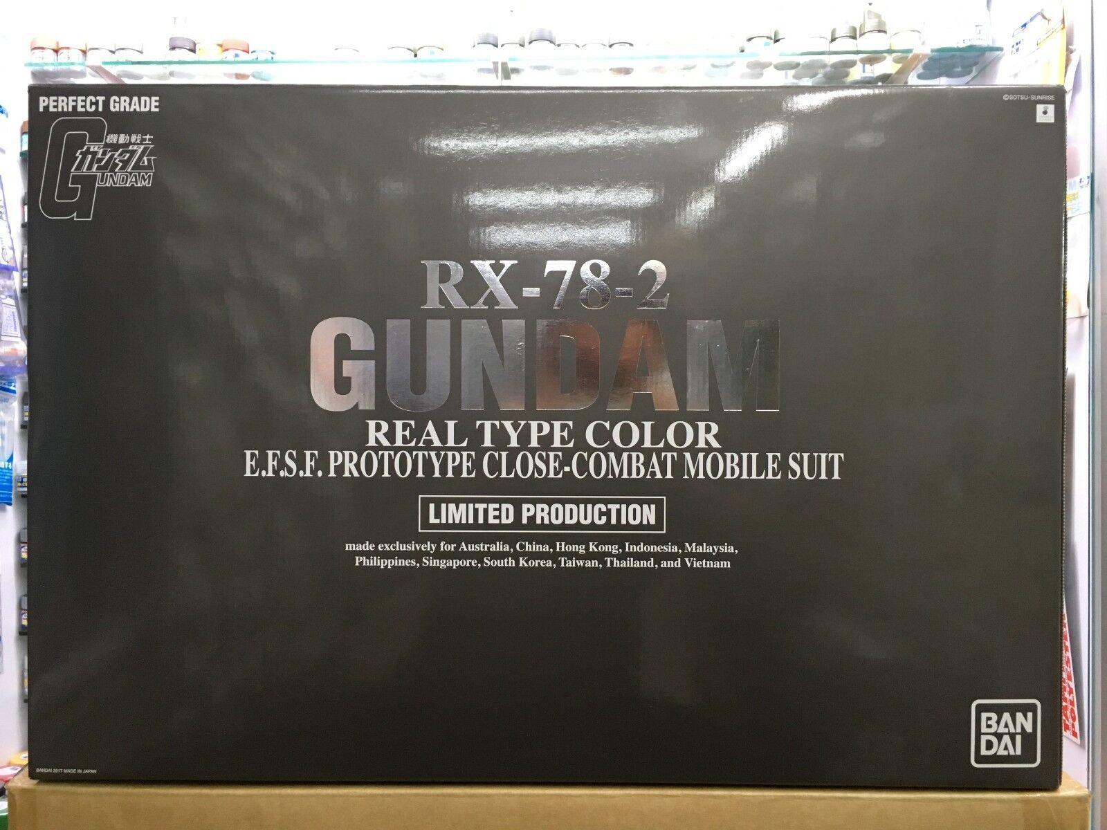 Bandai PG PG PG 1 60 RX-78-2 Gundam Real Type color Limited Production Kunio Okawara 738a29
