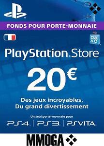 20 EUR Carte PlayStation Network - 20 EURO PSN Code Jeu - Compte français - FR