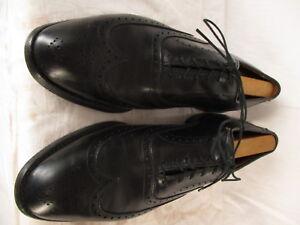 Allen Edmonds Chester Mens Black Wingtip Oxford Dress Shoes 12B