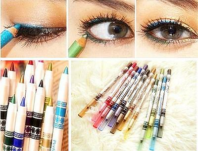 GOC 12Color Glitter Lip liner Eye Shadow Eyeliner Pencil Pen Makeup Cosmetic Set