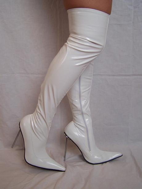 High heels, stiefel Lack Stretch  -Größe 35-47 producer -Polen FASHION STYLE