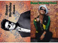 Edible Cake Topper Bruno Mars Icing Image Sugar Sheet Photo Party Decoration