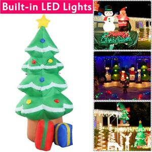 image is loading 4 ft inflatable lighted christmas tree lawn yard - Lighted Christmas Tree Yard Decorations