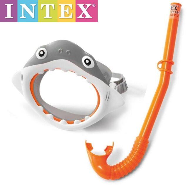 Set de buceo tubo respirador y gafas mascara Snorkel Intex para niños