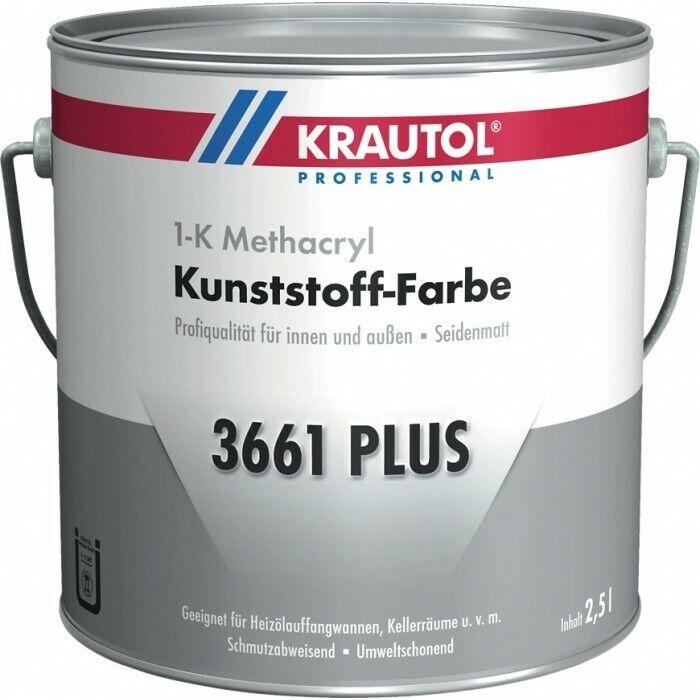 KRAUTOL 3661 PLUS 1-K Kunststoff-Farbe, hellgrau, steingrau 2,5L oder 5L