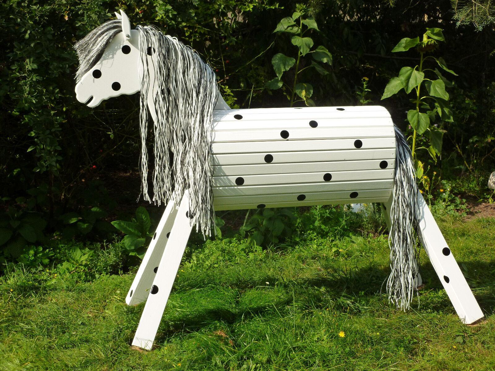 100cm Holzpferd Holzpony Onkel Voltigierpferd wetterfest wetterfest wetterfest lasiert NEU UNIKAT 444535