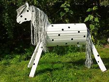 100cm Holzpferd Holzpony Onkel Voltigierpferd wetterfest lasiert NEU UNIKAT