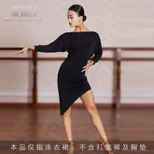 542ed7be76b2 New Latin Dance Dress Tango Salsa Ballroom Black Practice Dress G13 ...