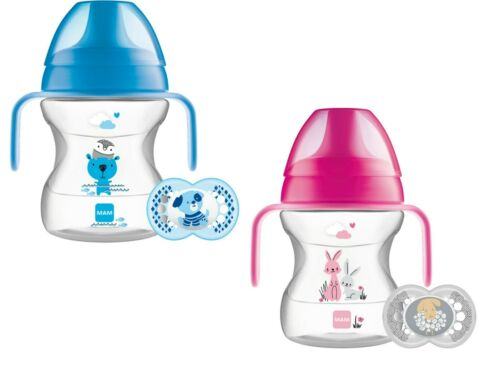MAM Baby Infant Trainer Drinking Drink Bottle Cup with Handles Soother 190ml