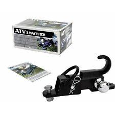 "Komodo ATV 3 Way Receiver Hitch (2"" Ball) Tow Hook Mount Draw Bar ATV3WH22"