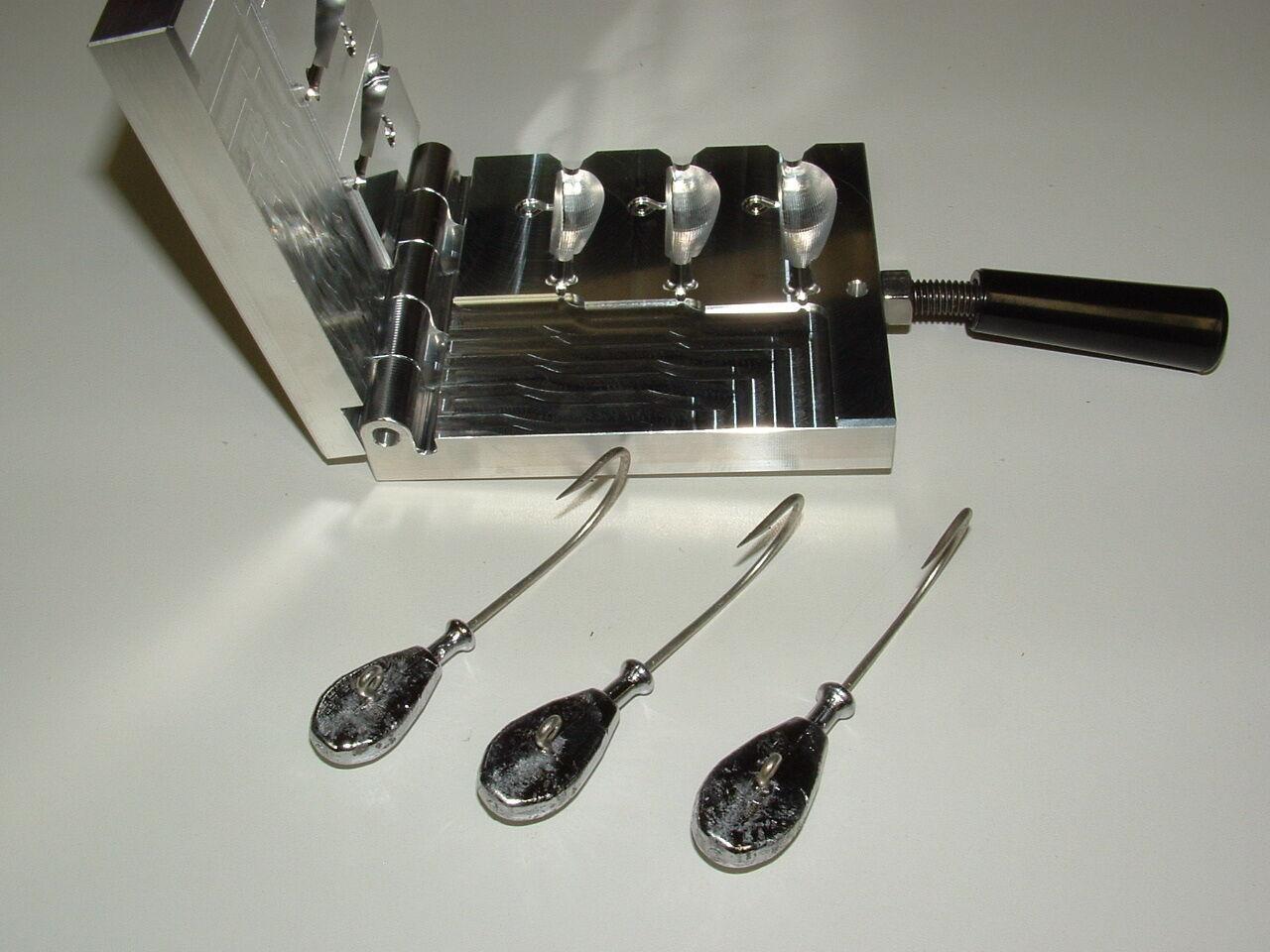 Saltwater Cobia Jig mold 2,2.5,3oz CNC Aluminum