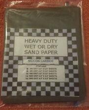 (40) 1/4 SHEETS SANDPAPER FINE 240, 400, 600, 1000, 1500 GRIT WET DRY SAND PAPER