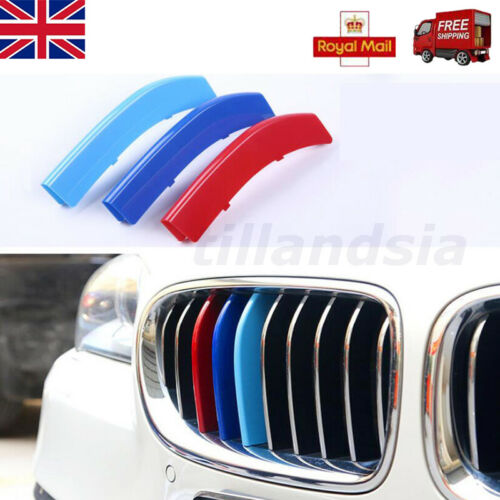 3 Color M Styling Car Front Grille Trim Sport Strips for  BMW 3 4 5 Series 14-15