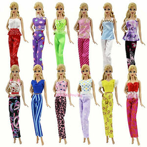 Fashion-Handmade-Random-5-Sets-Casual-Wear-Daily-Clothes-For-Barbie-Doll-Gifts